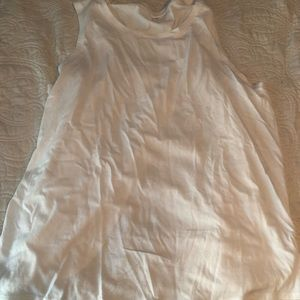 Old Navy White Open Back Tank Top